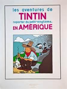 tintin serigraphie couverture tintin en am 233 rique