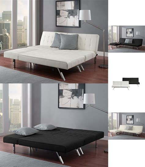 queen bed couch sofa bed sleeper with chaise lounger queen bed faux