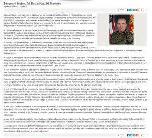 Air Bio Template by Rhip Sgt Major Of Marines 3 2 Embellishes His Record