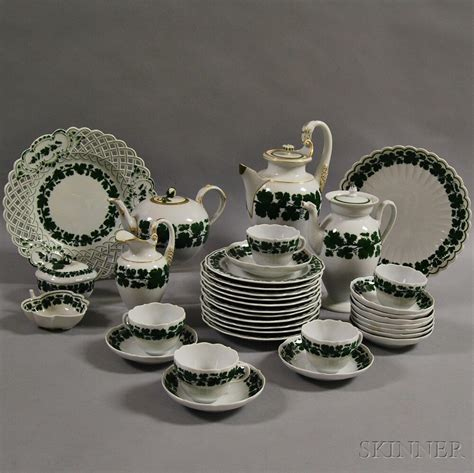 porcelain pattern numbers meissen grape leaf pattern porcelain tea service sale