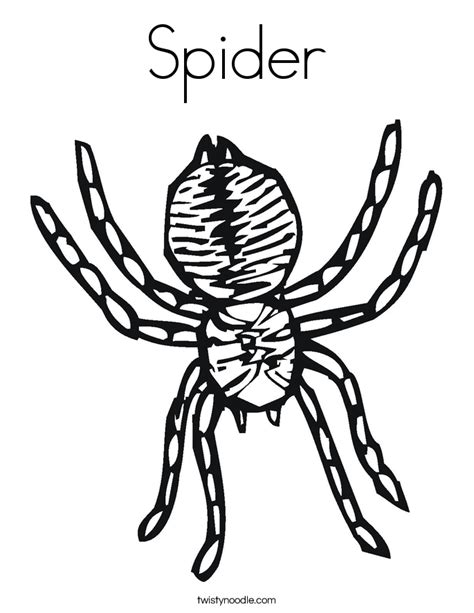 Spider Coloring Pages For Kids Az Coloring Pages Spider Coloring Page