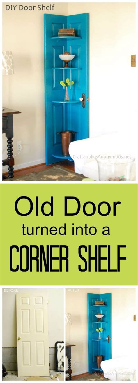 how to make an old door into a headboard best 25 door shelves ideas on pinterest spice rack