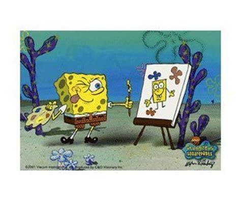 spongebob painting spongebob squarepants tv show sticker