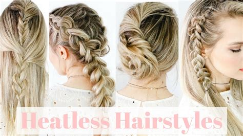 heatless hairstyles medium hair heatless hairstyles on straight hair kayleymelissa