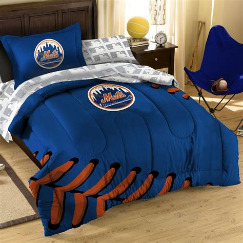 7pc New York Mets Full Bedding Set Mlb Ny Baseball Baseball Bedding Set