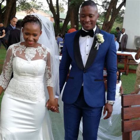 pearl thusi wedding photos pics sports personality walter mokoena gets married the