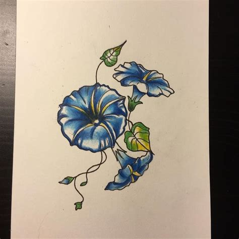 morning glory flower tattoo designs morning on tattoos september