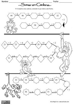 cadenas de numeros en c sumas encadenadas actiludis