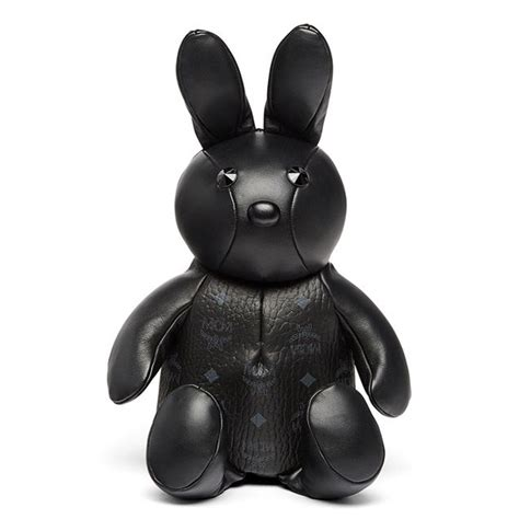 mcm rabbit doll visetos backpack in black vevostars