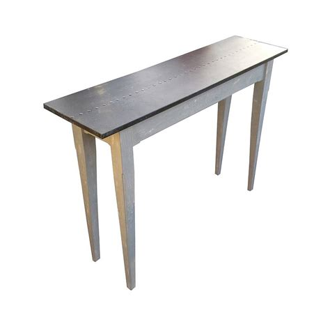 Zinc Console Table Zinc Topped Console Table By Bryonie Porter Notonthehighstreet