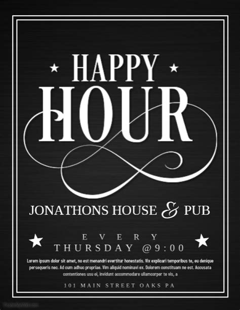 Happy Hour Template Postermywall Free Happy Hour Invitation Template