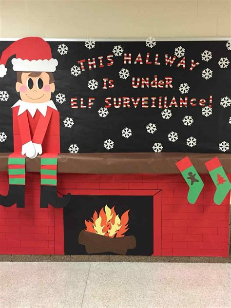 christmas door decorations for school fireplace kapan date