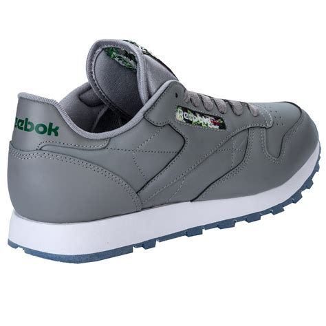 Reebok Classic Grey Chalk Bnib 1 Mens Reebok Classic Leather Utility Trainers In Black From