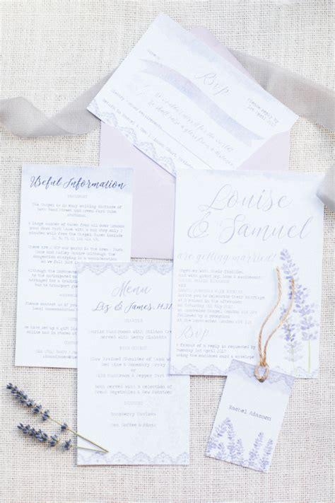 All Wedding Stationery by Lilac Lavender Wedding Stationery Range