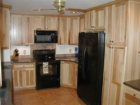 hickory cabinets and black appliances home hickory cabinets appliances and black