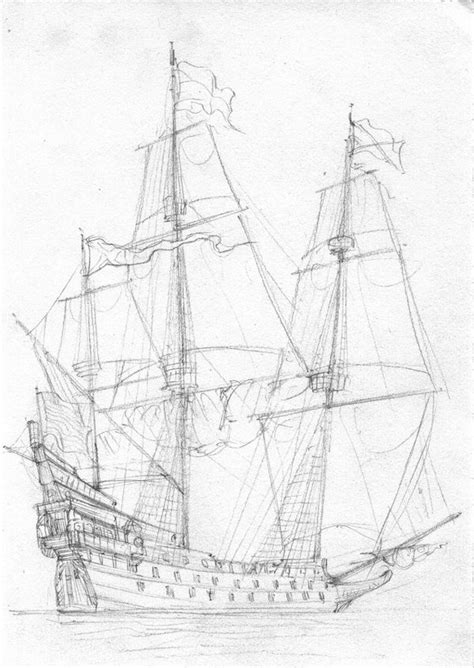coloring page spanish galleon how to draw spanish galleon