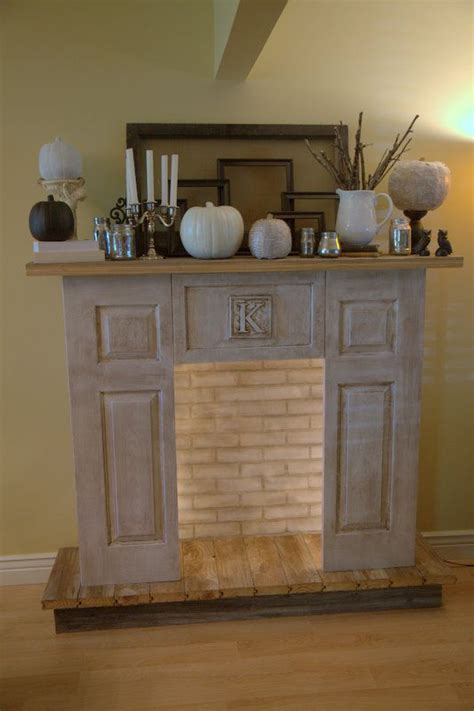 faux fireplace mantle with candles woodworking projects