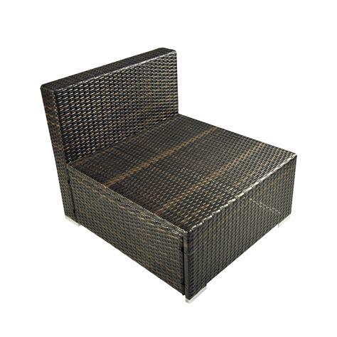 deluxe 6pc outdoor rattan wicker sofa garden