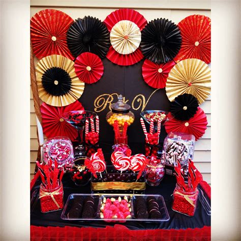 Bday Decorations At Home red and gold party decorations masquerade themed red black