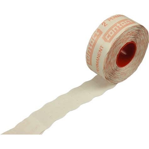 Etiketten Contact by Contact Etiket Prijsetiket Papier 25x16mm Wit 522150