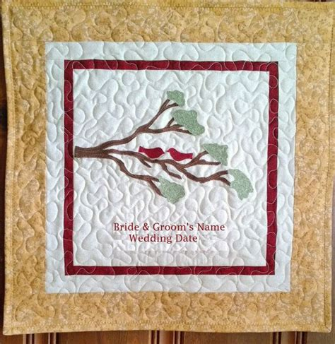 Personalized Quilts Personalized Wedding Quilt Or Anniversary Quilt