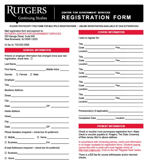 Rutgers Mba Who To Contact For Class Registration by Registration Information Center For Government Services