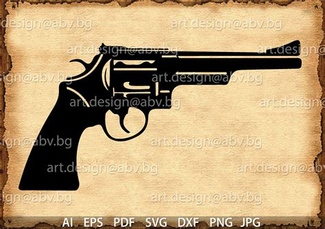 vector gun ai eps png  svg dxf jpg  digital