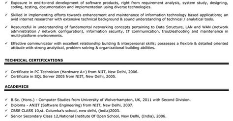 resume format for freshers 2012 impressive resume format freshers experienced cv sle for seekers privatejobshub in