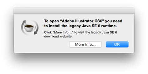 adobe illustrator cs6 java illustrator cs6 requires a java runtime under os x 10 10