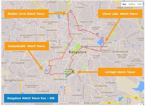 design running route google maps bangalore watch tower run