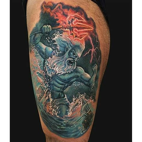 poseidon tattoo meaning 12 commanding poseidon tattoos tattoodo