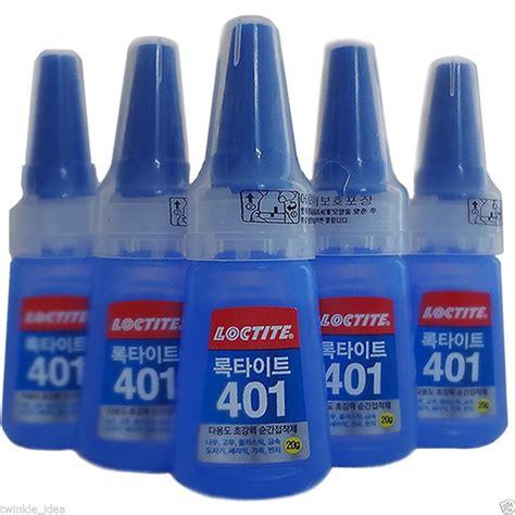 Loctite 401 Instant Adhesive 20g x5 loctite 401 instant adhesive 20g bottle stronger