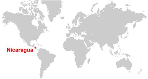 where is nicaragua on the world map nicaragua map and satellite image