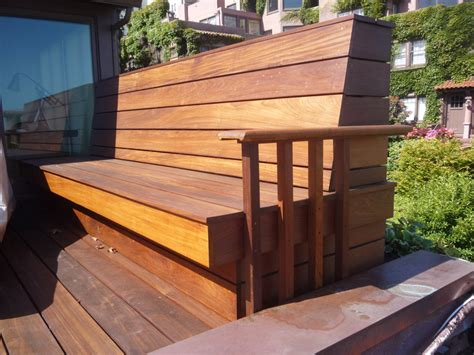 wood deck bench 1020 union st residence interior remodel go design archinect