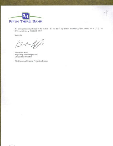 Fifth Third Bank Letter Of Credit Ripoff Report Fifth Third Bank Mortgage Complaint