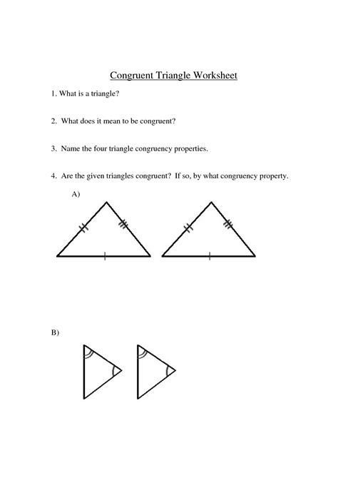 congruent triangles worksheet with answer 9 best images of using congruent triangles worksheets similar triangles and polygons worksheet
