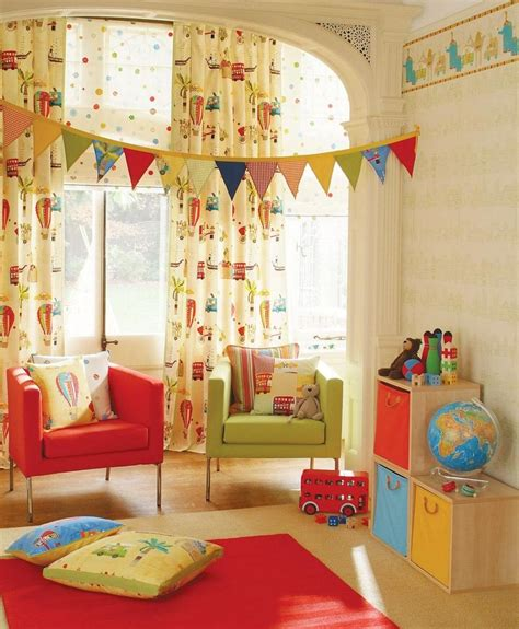 children s room curtain ideas pretty and youthful playroom color schemes