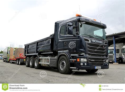 scania r580 6 v8 construction truck editorial image