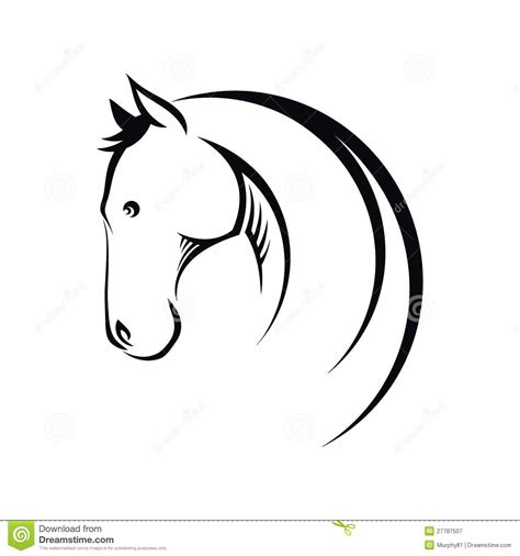 horse symbol stock vector image of competition elegance