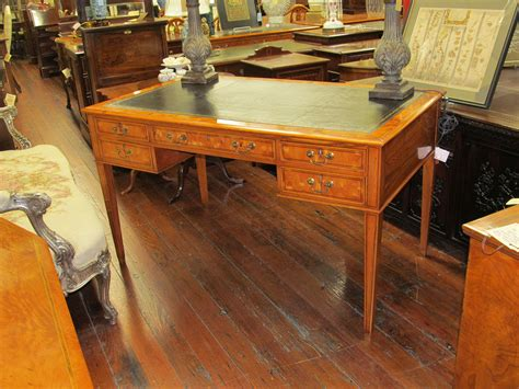 charleston battery bench bench made pippy yew wood leather top writing table