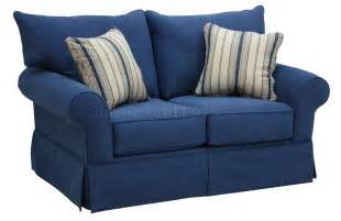 Blue denim fabric modern sofa amp loveseat set w options jfs 4317