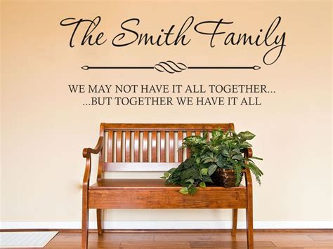 personalised wall sticker quotes personalised family wall quote wall sticker modern