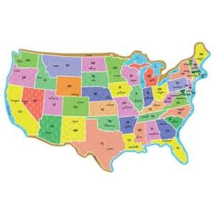 big united states map bulletin board set