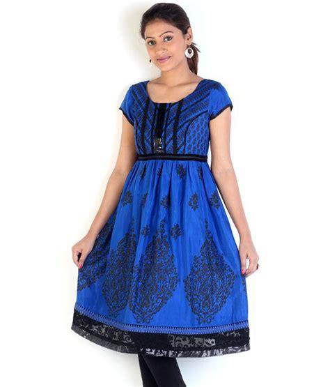 globus blue cotton printed collar globus royal blue printed cotton kurti buy globus royal blue printed cotton kurti at