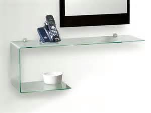 etagere murale verre shaped glass shelf flexi