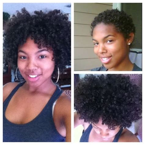 wavy hair after three months one year s growth after her big chop natural hair
