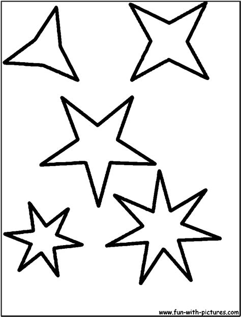 free coloring pages of star shapes