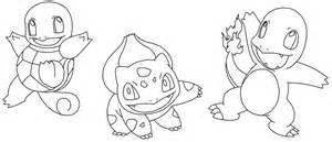All Pokemon Starters Coloring Pages Sketch Page sketch template