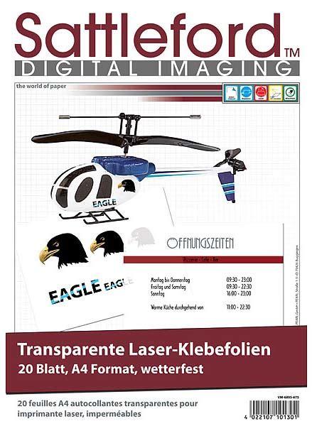 Aufkleber Selbst Gestalten Wetterfest by 20 Klebefolien Din A4 Laserdrucker Transparent Aufkleber