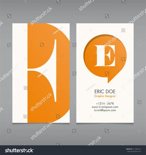 text business card templates business card vector template alphabet letter stock vector